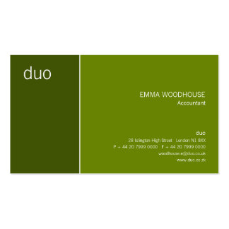 Duo Cadet May Green Business Card Template