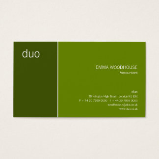 Duo Cadet May Green Business Card