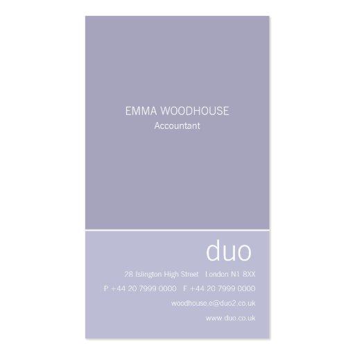 Duo Vertical Light Steel Blue Business Card Template