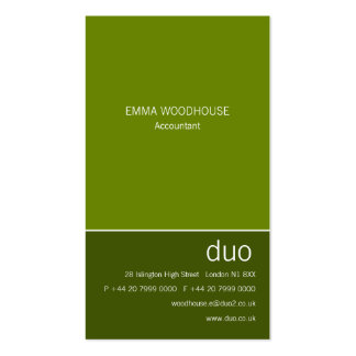 Duo Vertical May Green Business Card Templates