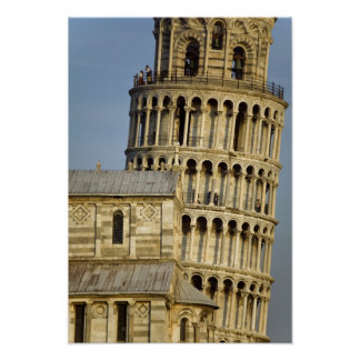 Duomo and Leaning Tower Pisa Tuscany Italy Print
