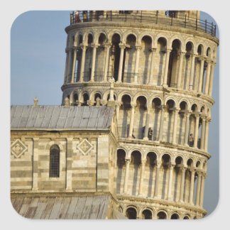 Duomo and Leaning Tower, Pisa, Tuscany, Italy Square Sticker