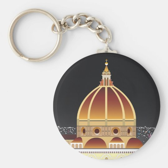 Duomo basic button key chain