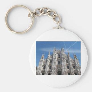 Duomo di Milano gothic cathedral church, Milan, It Basic Round Button Key Ring