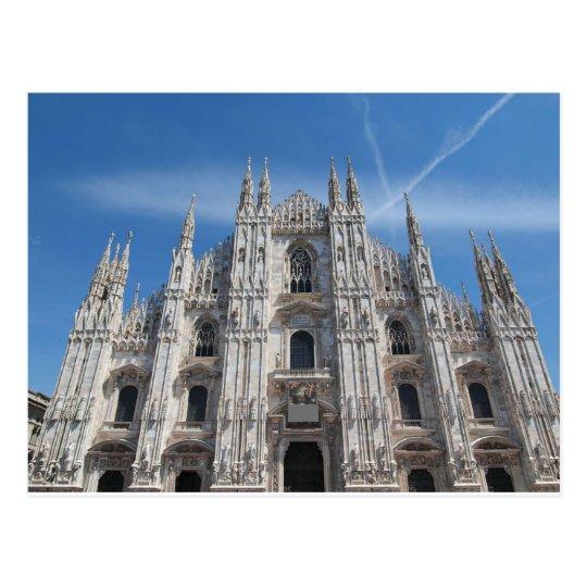 Duomo di Milano gothic cathedral church, Milan, It Postcard