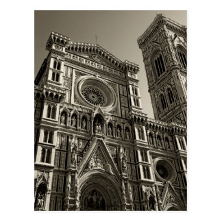 duomo in florence italy postcard
