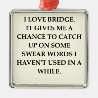 dup;icate bridge christmas ornament