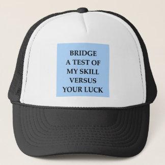 dup;icate bridge trucker hat