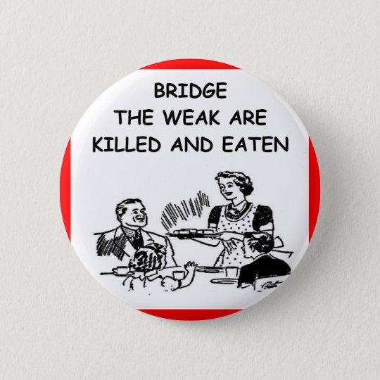 duplicate bridge 6 cm round badge