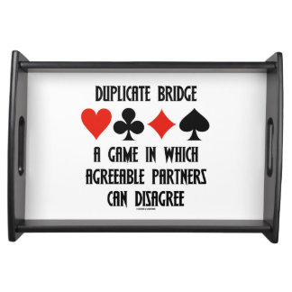 Duplicate Bridge A Game Which Agreeable Partners Serving Platters