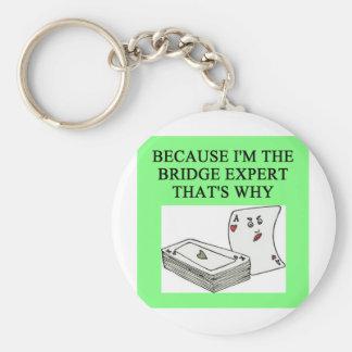 duplicate bridge expert joke keychain