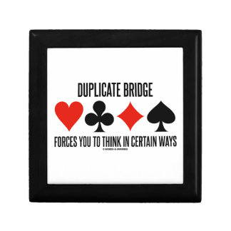 Duplicate Bridge Forces You To Think In Certain Small Square Gift Box