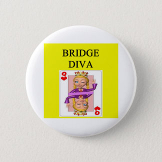 duplicate bridge game player 6 cm round badge