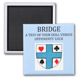 duplicate bridge game player refrigerator magnet