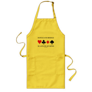 Duplicate Bridge Is A State Of Mind (Card Suits) Long Apron