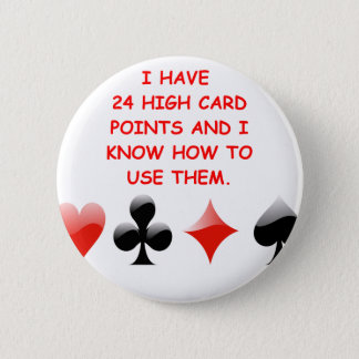 duplicate bridge joke 6 cm round badge