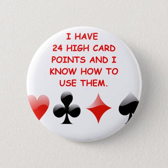 duplicate bridge joke 6 cm round badge