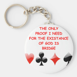 duplicate bridge joke key chain