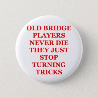duplicate bridge jokes 6 cm round badge