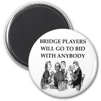 duplicate bridge jokes 6 cm round magnet