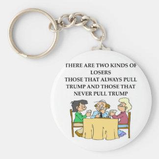 duplicate bridge jokes basic round button key ring