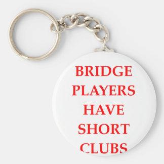 duplicate bridge basic round button key ring