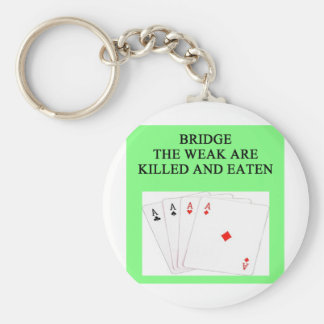duplicate bridge player basic round button key ring