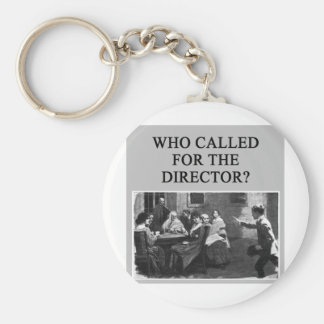 duplicate bridge player design basic round button key ring