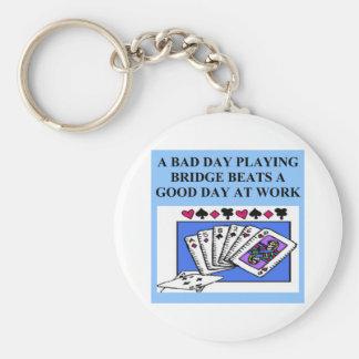 duplicate bridge player design keychain
