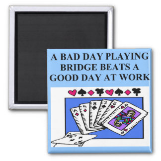duplicate bridge player design magnet