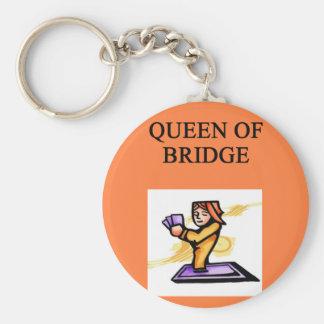 duplicate bridge queen basic round button key ring