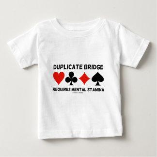 Duplicate Bridge Requires Mental Stamina Tee Shirt
