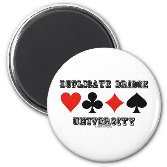 Duplicate Bridge University (Varsity Lettering) Magnet