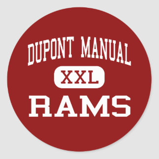 Dupont Manual - Rams - High - Louisville Kentucky Classic Round Sticker