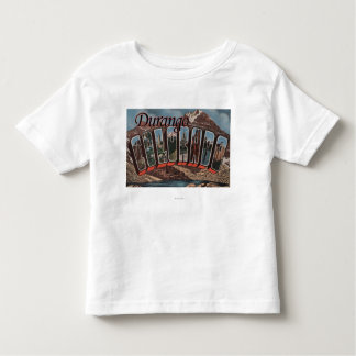 Durango, Colorado - Large Letter Scenes Toddler T-Shirt
