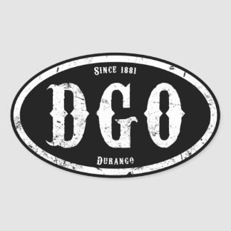 Durango Colorado Oval Sticker