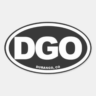 Durango Colorado Oval Sticker