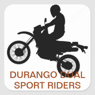 DURANGO DUAL SPORT RIDER MEMBER SQUARE STICKER