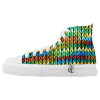 Durango Knitted High Tops Printed Shoes