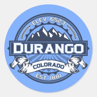 Durango Logo Blue Classic Round Sticker