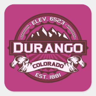 Durango Logo Raspberry Square Sticker