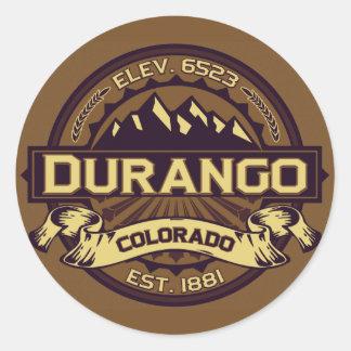 Durango Logo Sepia Classic Round Sticker