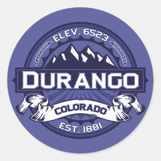 Durango Midnight Logo Classic Round Sticker