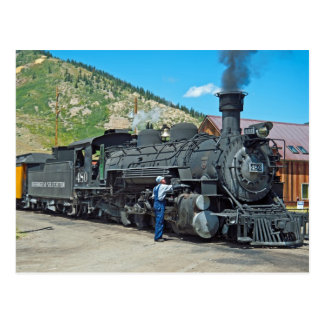 Durango & Silverton steam locomotive 480 Postcard