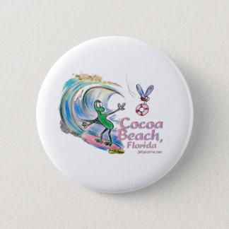 Durante Surfing Cocoa Beach, Florida 6 Cm Round Badge