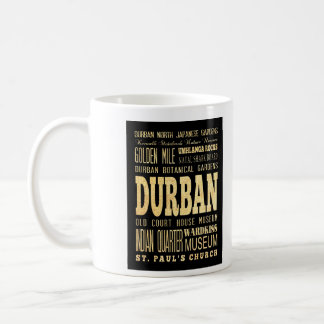 Durban City South Africa Typography Art Coffee Mug