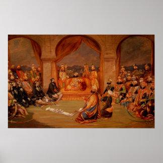 Durbar at Udaipur Rajasthan 1855 Print