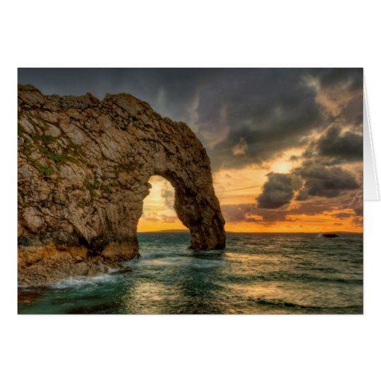 Durdle Door Jurassic Coastline| Dorset, England Card