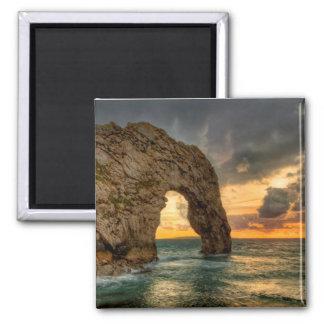 Durdle Door Jurassic Coastline| Dorset, England Square Magnet