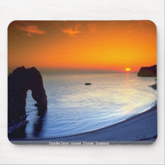 Durdle Door, sunset, Dorset, England Mouse Mat